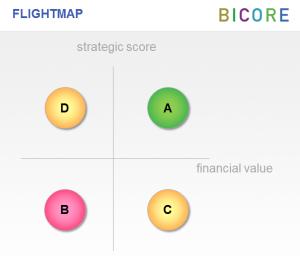 Strategic and financial bubble plot